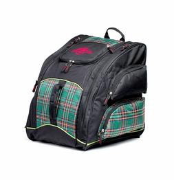 """Mountain Pro """"Everything"""" Backpack Bag, Black/Plaid Snowboar"""