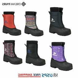 DREAM PAIRS Kids Toddler Winter Snow Boots Waterproof Non-Sl