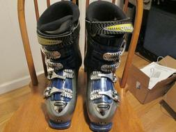 Silver Atomic Downhill Ski Boots Size 9 mens  with bag