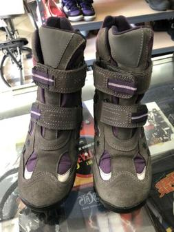 GEOX TEX Respira Size 5.5 Purple w gray Girls Boots ONCE USE